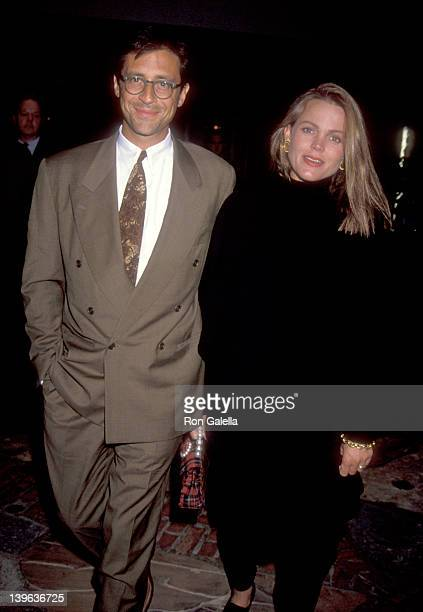 Musician Belinda Carlisle of The GoGo's and husband Morgan Mason attend the 'Under Siege' Westwood Premiere on October 8 1992 at Mann Village Theatre...