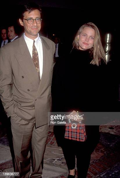Musician Belinda Carlisle of The GoGo's and husband Morgan Mason attend the Under Siege Westwood Premiere on October 8 1992 at Mann Village Theatre...