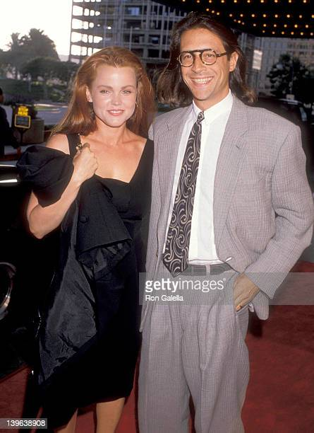Musician Belinda Carlisle of The GoGo's and husband Morgan Mason attend the Sex Lies and Videotape Century City Premiere on August 3 1989 at Cineplex...