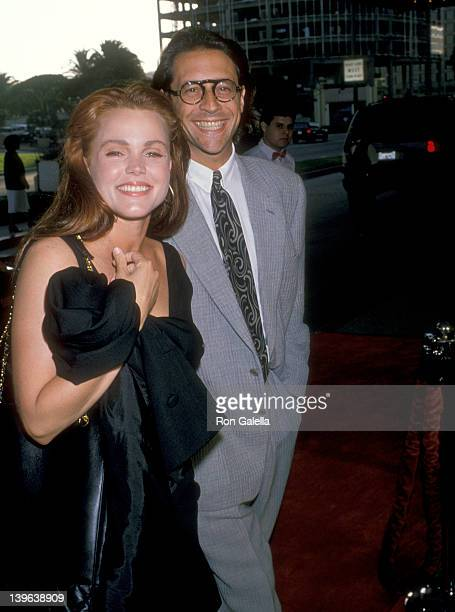 Musician Belinda Carlisle of The GoGo's and husband Morgan Mason attend the 'Sex Lies and Videotape' Century City Premiere on August 3 1989 at...