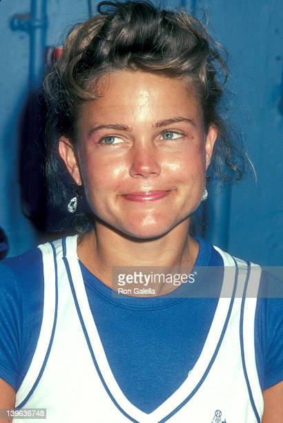 Musician Belinda Carlisle of The GoGo's attends the 25th Annual 'Hollywood Stars Night' Celebrity Baseball Game on July 16 1983 at Dodger Stadium in...
