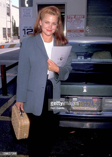Musician Belinda Carlisle of The GoGo's attends the Environmental Media Association Press Conference on June 24 1989 at Lorimar Studios in Culver...