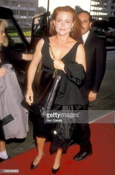 Musician Belinda Carlisle of The GoGo's attends the 'Sex Lies and Videotape' Century City Premiere on August 3 1989 at Cineplex Odeon Century Plaza...
