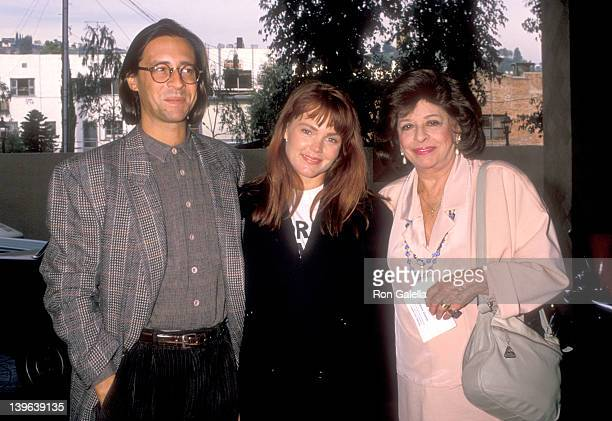 Musician Belinda Carlisle of The GoGo's husband Morgan Mason and his mother Pamela Mason attend the Third Annual Genesis Awards on November 19 1988...