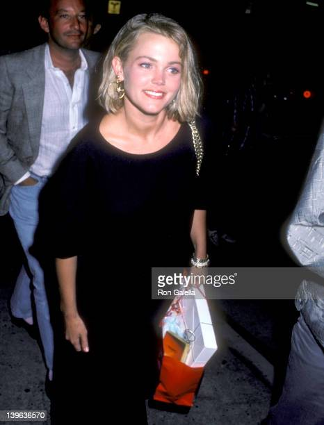 Musician Belinda Carlisle of The GoGo's on August 17 1986 dines at Spago in West Hollywood California