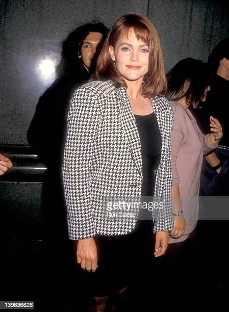 Musician Belinda Carlisle of The GoGo's on October 4 1987 dines at Spago in West Hollywood California