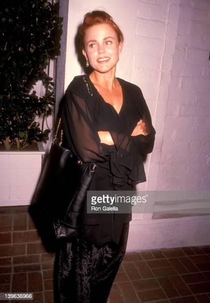 Musician Belinda Carlisle of The GoGo's on October 5 1990 dines at Chasen's Restaurant in Beverly Hills California