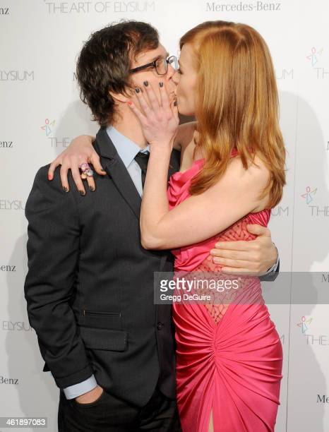 Musician Ben Folds and actress Alicia Witt arrive at The Art of Elysium's 7th Annual HEAVEN Gala at the Guerin Pavilion at the Skirball Cultural...
