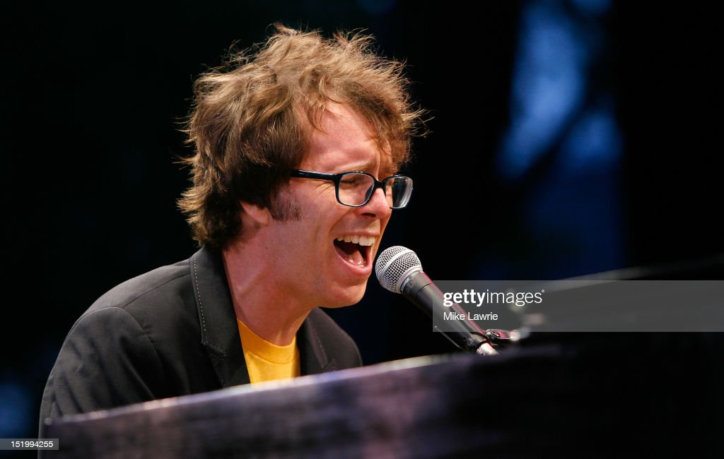 Musician Ben Folds of Ben Folds Five performs at SummerStage at Rumsey Playfield, Central Park on September 14, 2012 in New York City.