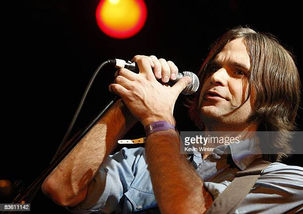 Musician Ben Gibbard of Death Cab For Cutie performs at Rachel Fuller's In The Attic presented by Best Buy at the Troubador on November 7 2008 in...