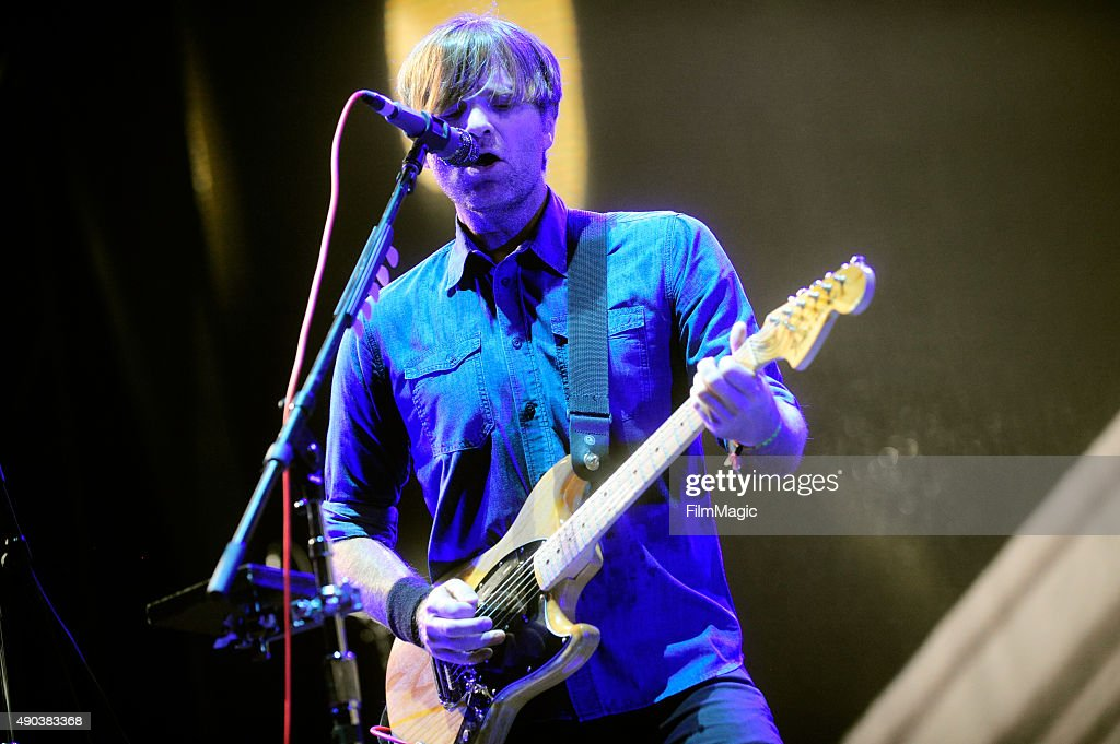 Musician Ben Gibbard of Death Cab for Cutie performs onstage during day 3 of the 2015 Life is Beautiful festival on September 27, 2015 in Las Vegas, Nevada.