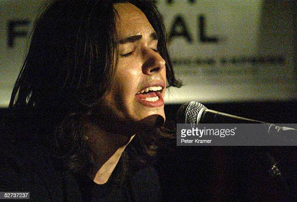Musician Ben Jelen performs at The ASCAP Music Lounge at the Tribeca Film Festival April 29 2005 in New York City