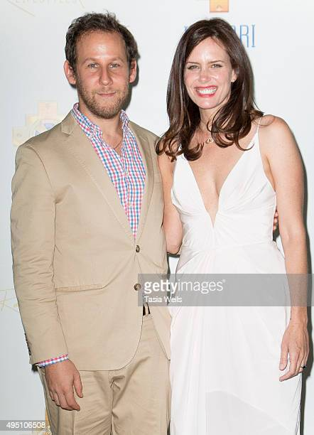 Musician Ben Lee and actress Ione Skye arrive at a charity event for Inkarri on October 24 2015 in Beverly Hills California