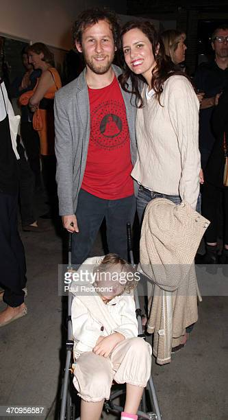 Musician Ben Lee and his wife actress Ione Skye with their child Goldie Priya Lee attending the Moby Los Angeles Photo Exhibition press preview VIP...