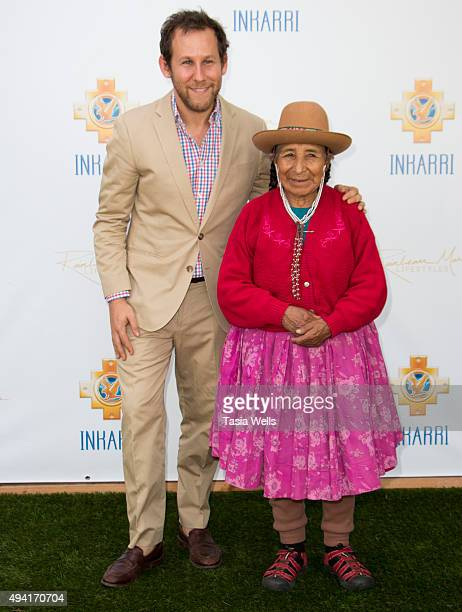Musician Ben Lee and Q'ero High Priestess Dona Maria Apaza arrives at An Evening With Inkarri on October 24 2015 in Beverly Hills California