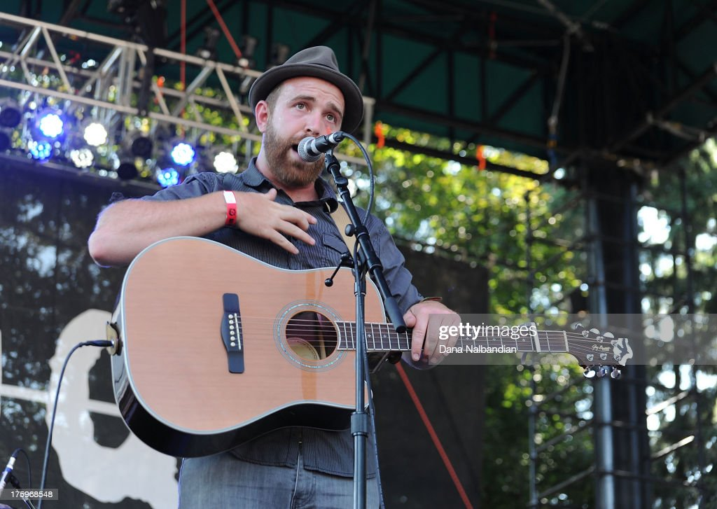 Musician Ben Worcester of Save The Whale performs at The End Summer Camp at Marymoor Amphitheater on August 10, 2013 in Redmond, Washington.