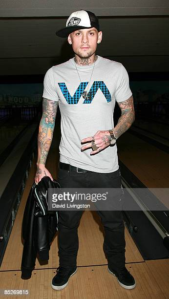 Musician Benji Madden attends Stars and Strikes Celebrity Bowling and Poker Tournament at PINZ on March 5 2009 in Studio City California