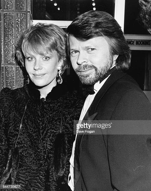 Musician Benny Andersson, of the band 'Abba', pictured with his wife at the premiere of the film 'Not Quite Jerusalem', at Leicester Square Odeon,...