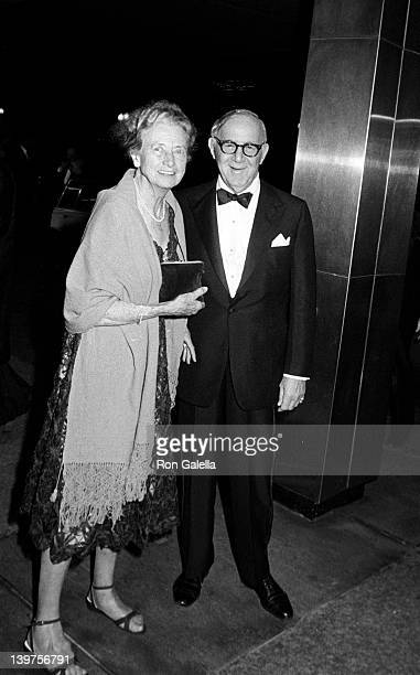 Musician Benny Goodman and wife Alice Duckworth attend Kennedy Center Honorees Luncheon on December 4 1982 at the State Department Building in...