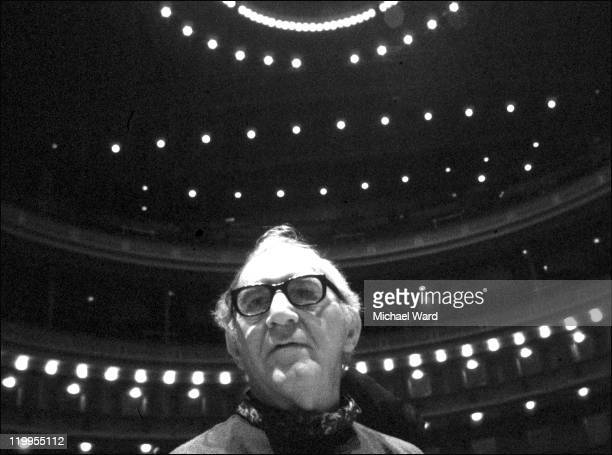 Musician Benny Goodman at Carnegie Hall New York 1978