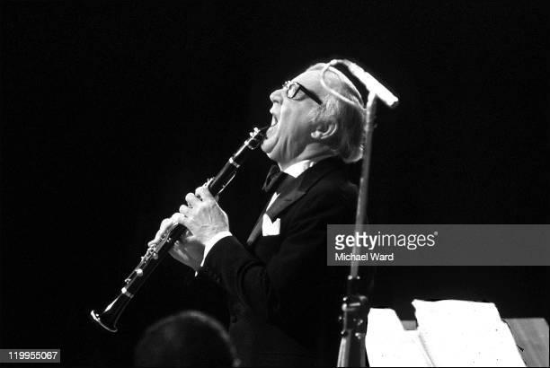Musician Benny Goodman in concert at Carnegie Hall New York 1978
