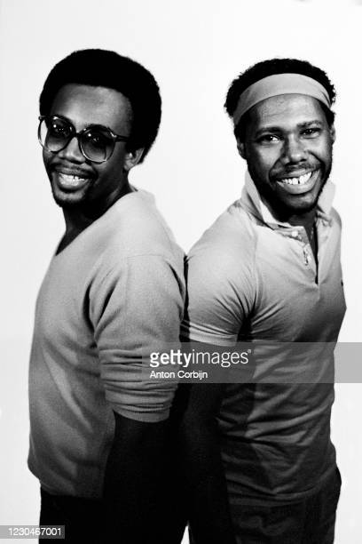 Musician Bernard Edwards and Nile Rodgers and from the music band Chic poses for a portrait in London, on June, 1980.