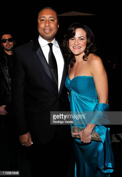 Musician Bernie Williams and wife Waleska arrives at the 9th Annual Latin GRAMMY Awards held at the Toyota Center on November 13 2008 in Houston Texas