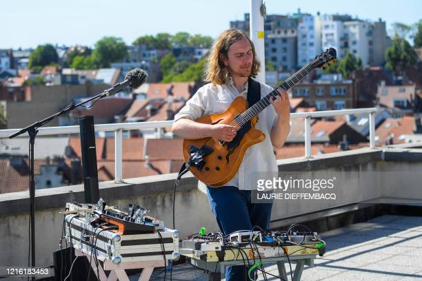 Musician Bert Cool pictured during a performance at the Bel Jazz Fest an online jazz music festival organised by the joint effort of eleven Belgian...