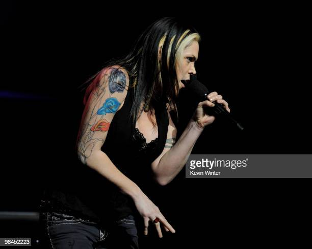 Musician Beth Hart performs onstage at Help Haiti with George Lopez Friends at LA Live's Nokia Theater on February 4 2010 in Los Angeles California