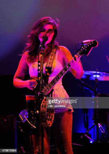 Musician Bethany Cosentino of Best Coast performs at The Wiltern on June 27 2015 in Los Angeles California