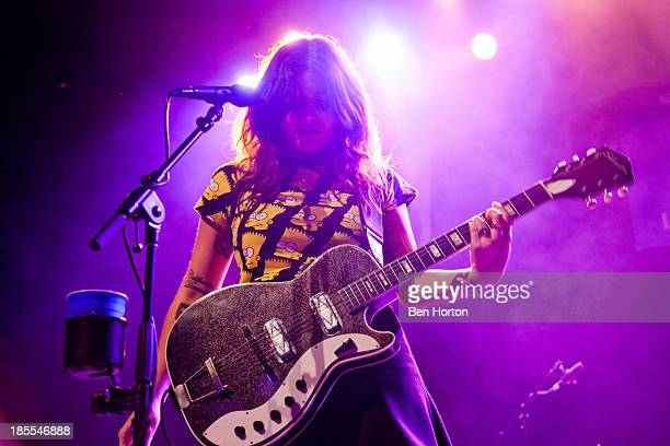 Musician Bethany Cosentino of the band Best Coast performs at Goldiepup Presents LAAR Benefit with Best Coast and more at Henry Fonda Theater on...