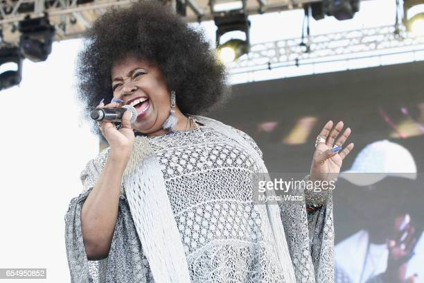Musician Betty Wright performs on stage at The 12th Annual Jazz In The Gardens Music Festival Day 1 at Hard Rock Stadium on March 18 2017 in Miami...