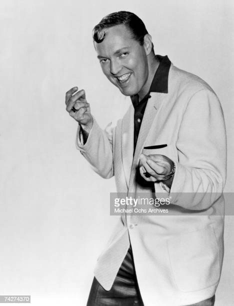 Musician Bill Haley poses for a still in Los Angeles California to promote the movie 'Don't Knock The Rock' which was released in 1956 This image is...