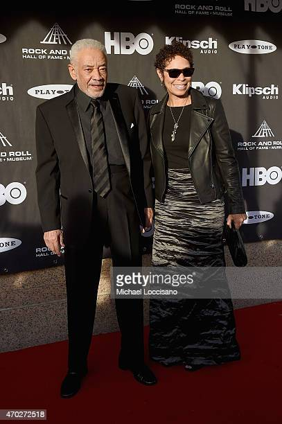 Musician Bill Withers and Marcia Johnson attend the 30th Annual Rock And Roll Hall Of Fame Induction Ceremony at Public Hall on April 18 2015 in...