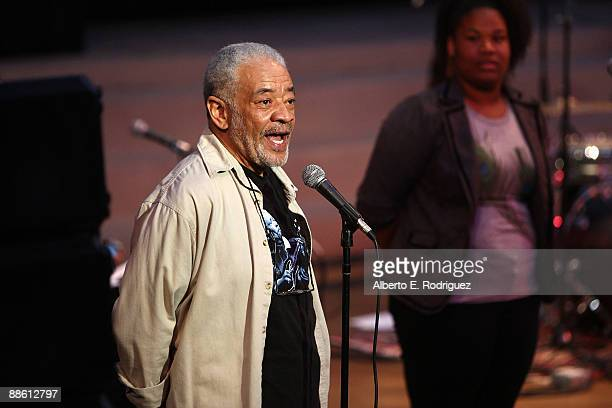 Musician Bill Withers speaks at the 2009 Los Angeles Film Festival's Soul Power Music by Kori Withers at the John Anson Ford Amphitheatre on June 21...