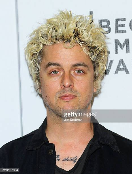 Musician Billie Joe Armstrong attends the Geezer premiere during the 2016 Tribeca Film Festival at Spring Studios on April 23 2016 in New York City