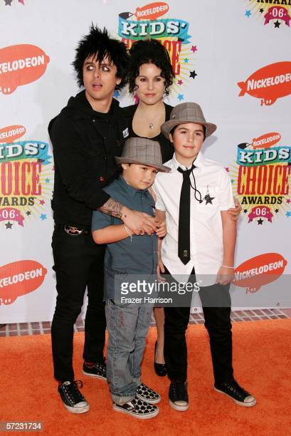 Musician Billie Joe Armstrong Of Green Day Wife Adrienne Nesser And Children Arrive At The 19th
