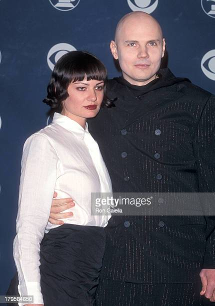 Musician Billy Corgan of The Smashign Pumpkins and girlfriend Yelena Yemchuk attend the 41st Annual Grammy Awards on February 24 1999 at the Shrine...