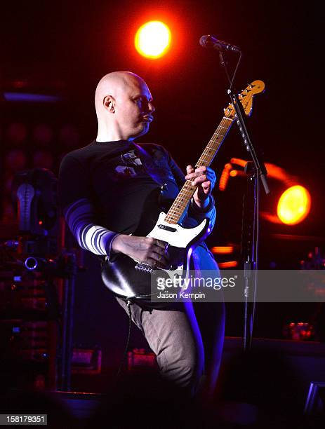 Musician Billy Corgan of The Smashing Pumpkins performs at Barclays Center of Brooklyn on December 10 2012 in New York City
