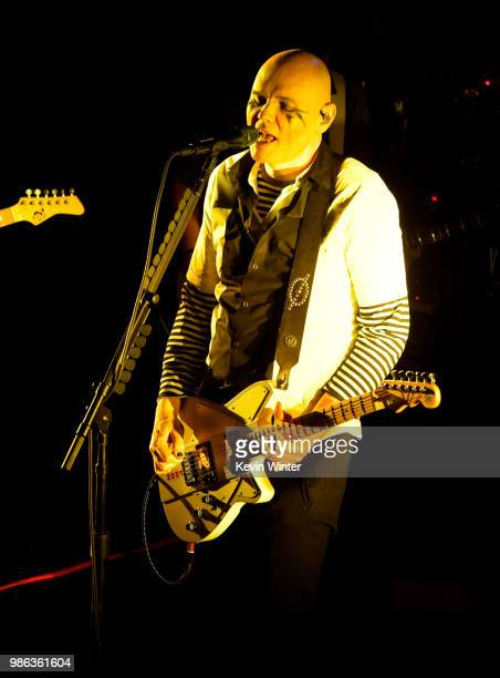 Musician Billy Corgan of The Smashing Pumpkins performs at the Troubadour on June 27 2018 in West Hollywood California