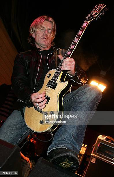 Musician Billy Duffy performs onstage at the All Star Jam Band at the Forum at the SkiHouse during the 2006 Sundance Film Festival on January 20 2006...