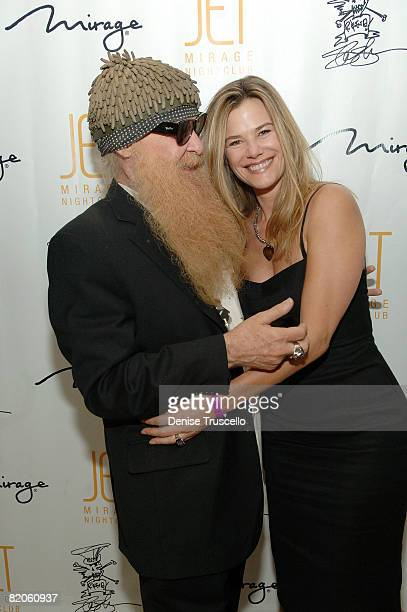 Musician Billy Gibbons and his wife Gilligan Gibbons arrive at Slash's birthday party at JET Nightclub at the Mirage Hotel and Casino on July 24 2008...