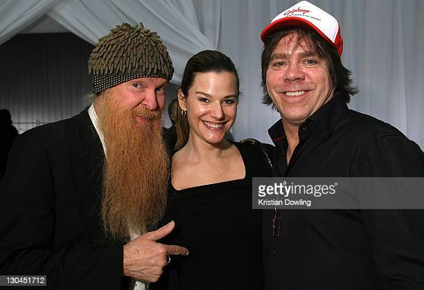 Musician Billy Gibbons and wife Gilligan Gibbons attend the 51st Annual GRAMMY Awards Style Studio held at the Smashbox Studios on February 7 2009 in...