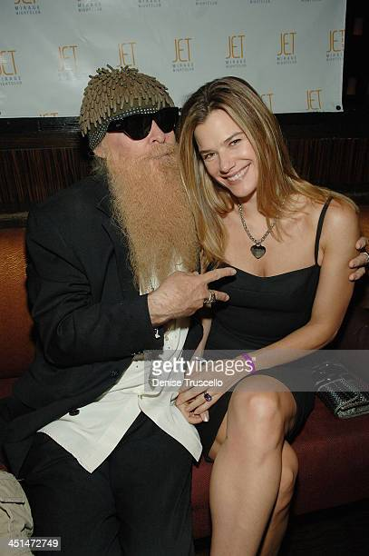 Musician Billy Gibbons of ZZ Top and his wife Gilligan Gibbons attend Slash's birthday party at JET Nightclub at the Mirage Hotel and Casino on July...