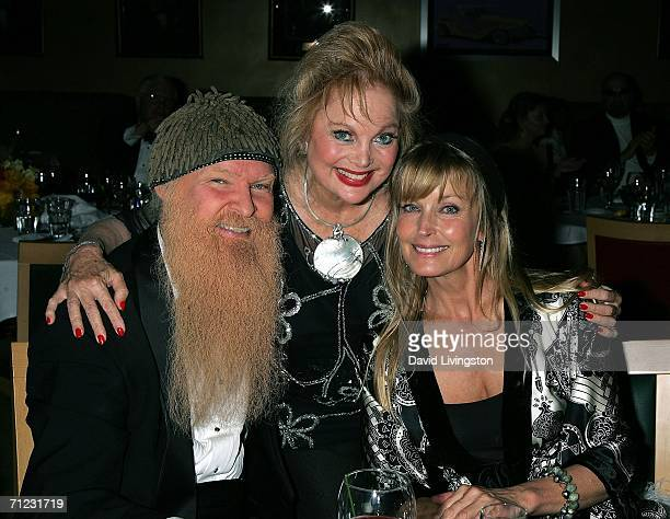 Musician Billy Gibbons of ZZ Top composer Carol Connors and actress Bo Derek attend the Friars of Beverly Hills celebrity fundraiser dinner gala...