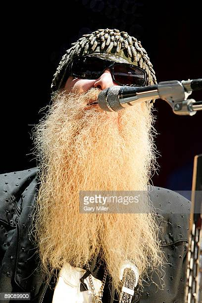 Musician Billy Gibbons of ZZ Top performs in concert at The Cynthia Woods Mitchell Pavilion on July 17 2009 in The Woodlands Texas