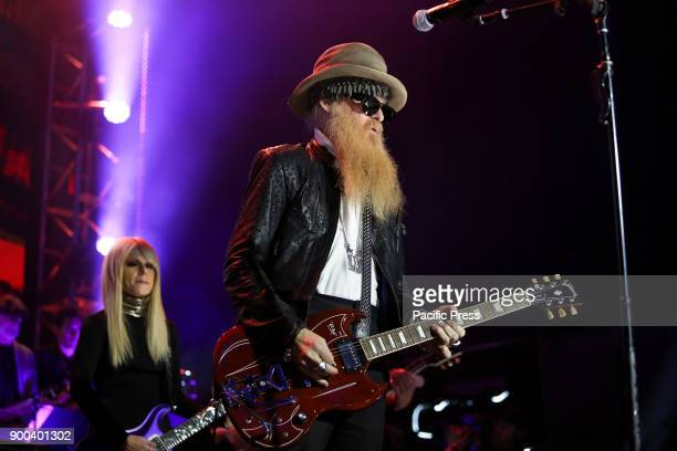 Musician Billy Gibbons performs at America Salutes You and Wall Street Rocks presents guitar legends for heroes
