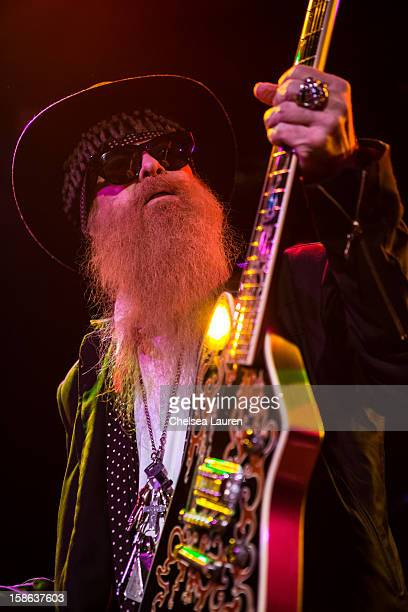 Musician Billy Gibbons performs at Camp Freddy's holiday residency at The Roxy Theatre on December 21 2012 in West Hollywood California