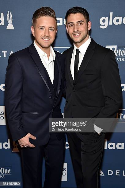 Musician Billy Gillman and Chris Meyer attend the 27th Annual GLAAD Media Awards in New York on May 14 2016 in New York City