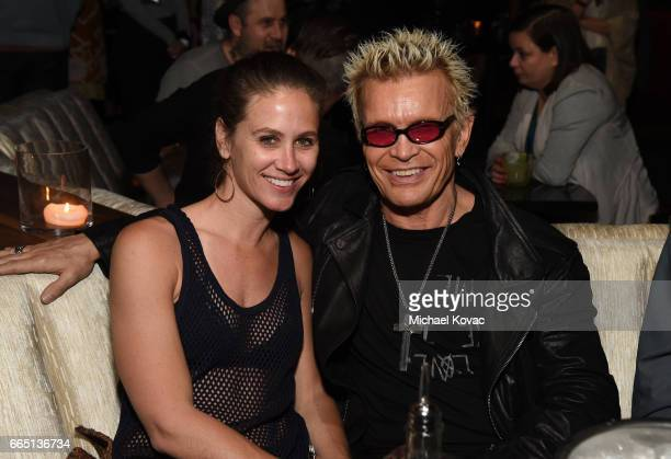 Musician Billy Idol and guest attend the afterparty for 'SHOT The Psycho Spiritual Mantra of Rock' premiere at Blind Dragon on April 5 2017 in Los...